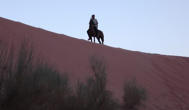 Horseback riding in Wadi Rum on the dunes