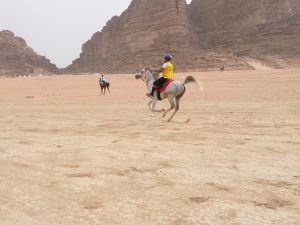 Endurance, canter to the check point, Wadi Rum, Jordan