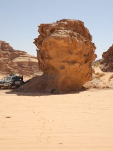 Lunch under 'the Titanic' in Wadi Rum