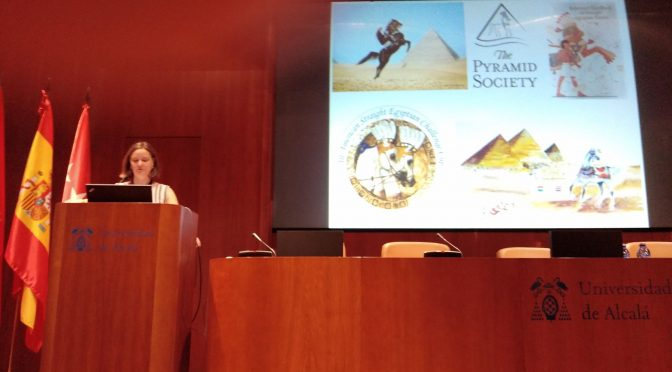 Presenting horses at the Current Research in Egyptology in Alcalá, Madrid
