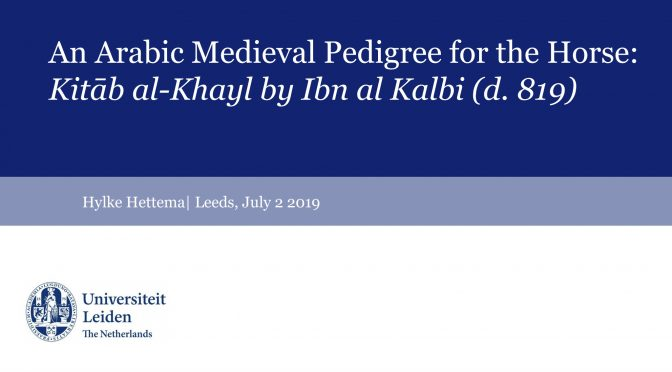 Horse sessions at the International Medieval Congress 2019